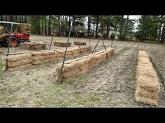 What types of straw or hay? A detailed discussion of what types of bales can you use for bale gardening? Straw Bale Gardening, What Type, Garden Ideas, Backyard, Organic, Make It Yourself, Canning, Youtube, Patio