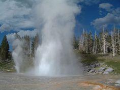 """* Parque Nacional de Yellowstone * USA. """"Grand Geyser""""."""