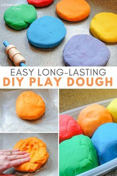 The longest-lasting homemade playdough recipe - lasts for more than a year! It's SOFT and you can make a batch in 5 minutes or less! The BEST play doh recipe! Your kids will love this natural sensory play kids activity and so will you! Crafts for Kids Best Play Doh Recipe, Best Homemade Playdough Recipe, Home Made Playdough Recipe, Recipe For Homemade Play Doh, Home Made Playdoh, Homade Playdough, Cream Of Tartar Recipe, Easy Playdough Recipe With Cream Of Tartar, Sons