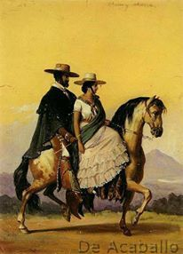 ArtHistoryReference - Edouard Pingret - Charro and Charra - Carlos Artea - Art Mexican Paintings, Old Paintings, California History, Alta California, Latina, Mexico Culture, Chicano Art, Cowboy Art, Mexican Art