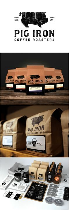 Design Agency: Central Station Project name: Pig Iron Coffee Roasters Location: Canada Category: #Beverages #Drinks #Coffee