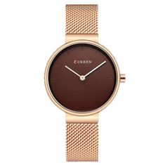 Item Type: Quartz Wristwatches Brand Name: CURREN Water Resistance Depth: Case Shape: Round Boxes & Cases Material: Paper Feature: Water Resistant,Shock Resistant Gender: Women Style: Fashion & Casual Band Material Type: Alloy Case Material: Alloy Ba Simple Watches, Elegant Watches, Women's Dress Watches, Women's Watches, Ladies Watches, Bronze, Trendy Accessories, Luxury Watches For Men, Watch Sale