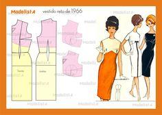 Vestido reto de 1966. Fonte: http://www.facebook.com/photo.php?fbid=545395658829677=a.545395598829683.1073741837.422942631074981=1