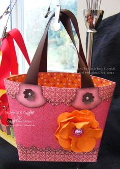 Crescent Stampin: Mini Box in a Bag........my version with FREE tutorial