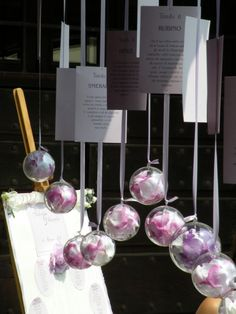 tableau... poems (or book pages) ribbons, and roses in inexpensive Christmas orb ornaments from a craft store