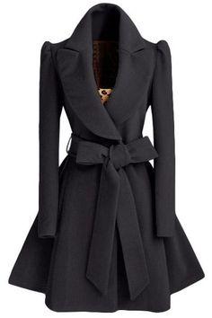 Self Tie Belt Coat Dress