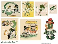 St Patricks Day 1 Digital Collage from by PeggyLovesVintage, $2.50