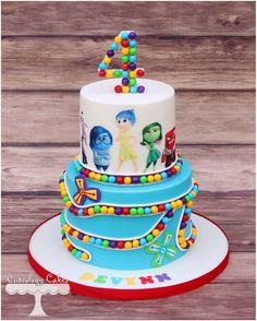 Trendy Birthday Cake Kids Disney Inside Out Pretty Cakes, Cute Cakes, Beautiful Cakes, Amazing Cakes, Fondant Cakes, Cupcake Cakes, Inside Out Cakes, Character Cakes, Birthday Cake Girls