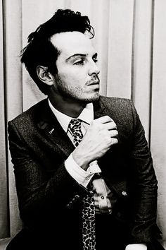 Andrew Scott. Cute and terrifyingly psychotic as Jim Moriarty on BBC's Sherlock.