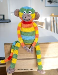 Klätterapan – Crochet from Åland Crochet Animals, Crochet Toys, Free Crochet, Knit Crochet, Drops Design, Knitting Projects, Crochet Projects, Drops Cotton Light, Crochet Designs
