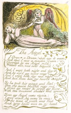 "Songs of Innocence and of Experience, object 35 (Bentley 41, Erdman 41, Keynes 41) ""The Angel"" (copy A, 1795, British Museum, London)"
