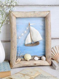 Mach es selbst Mach es selbst es mach yourself Mach es sel - Kleider seaglasscrafts Seashell Projects, Driftwood Projects, Seashell Crafts, Driftwood Art, Seashell Art, Sea Glass Crafts, Sea Crafts, Diy Home Crafts, Stone Crafts