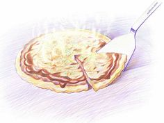 Colored Pencil Drawings of Japanese Cuisine (Vol.02)    - Pizza Drawings - Colored Pencil Drawings of Foods 7