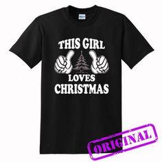 THIS GIRL LOVES CHRISTMAS for shirt black, tshirt black unisex adult