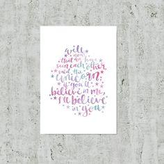Girls Room Decor, Unicorn Gift, Alice In Wonderland Wall Art, Girls Bedroom Print, Gift For Girl, Pastel Print, Quote Poster, Unicorn Art by violetandalfie on Etsy