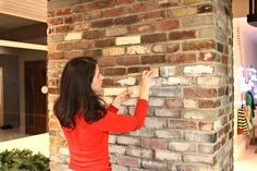 "How to Whitewash Bricks - using natural paint that let's the bricks ""breathe""  