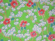 Vintage Feedsack Fabric 1930-40's Floral Lime Green by Niesz Vintage Fabric, via Flickr