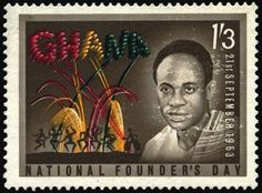 Stamp from Ghana via 'Stamps from the African Diaspora'
