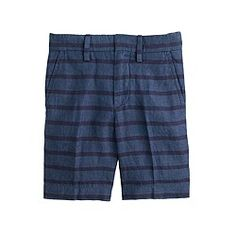 Boys' Irish linen club short in tonal stripe