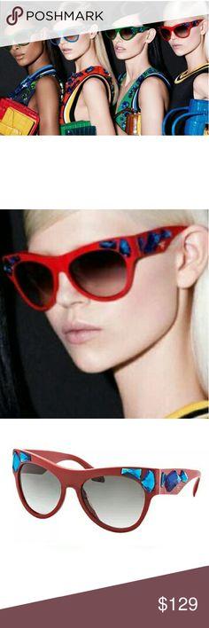 Prada sunglasses - SPR22Q - in red and blue Authentic pair of Prada sunnies.  In excellent condition.  No box or bag.  Super stylish Prada Accessories Sunglasses
