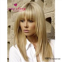 Top quality medium blonde wig 8A china virgin human hair full lace&lace front straight wig 130% density bleached knot with bang-in Human Wigs from Health & Beauty on   http://www.aliexpress.com/item/Top-quality-medium-blonde-wig-8A-china-virgin-human-hair-full-lace-lace-front-straight-wig/32493691269.html?spm=0.0.0.0.x8SW4q