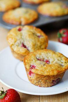 Strawberry banana bread muffins