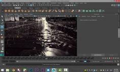 Maya 2016 tutorial : How to create rain with nParticles