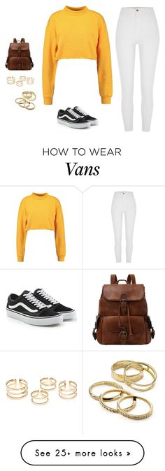 """cece 3"" by sallyloveshoes on Polyvore featuring River Island, Vans and Kendra Scott"