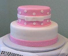 Pink Baptismal Cake