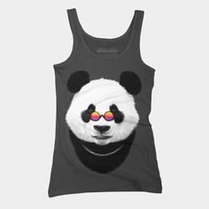Hipster Panda Tank Top  Hipster Panda @designbyhumans by goljakoff https://www.designbyhumans.com/shop/t-shirt/hipster-panda/835470    #cloth #clothing #tshirt #sale #buy #custom #style #fashion #design #art #illustration #tee #dbh #panda #hipster #bear #pandabear #coolpanda