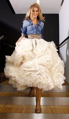 Swan Cloud Maxi Skirt <3