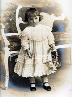 Victorian Edwardian People - Little Girl's Portrait Royalty Free Stock Photo