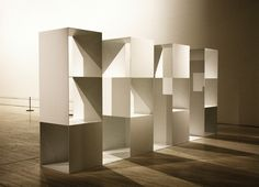 Sol Lewitt, 'Three-part Variations on Three Different Kinds of Cubes' Modern Sculpture, Abstract Sculpture, Sculpture Art, Flexible Furniture, Artistic Installation, Origami, Light And Space, Cute Home Decor, Abstract Drawings