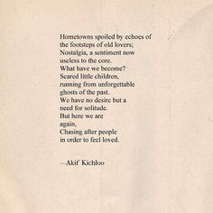 """""""The curse of instant gratification""""  