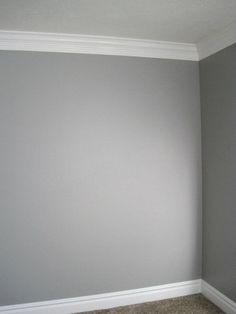 Grey Walls + White Moldings= Modern Sophisticate Inspired Room!: