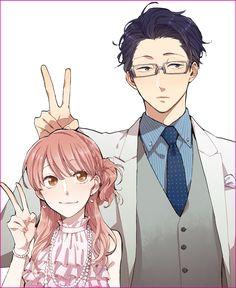 Anime/manga: wotakoi: love is hard for an otaku Otaku Anime, Manga Anime, Fanarts Anime, Anime Love Couple, Manga Couple, Cute Anime Couples, Kawaii Anime, Kawaii Art, Animé Fan Art