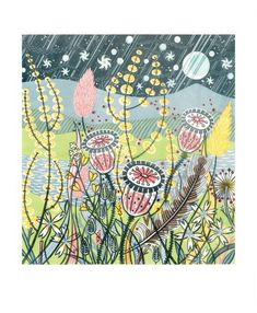 Season Songs by Angie Lewin — cambridge contemporary art Watercolour Drawings, Watercolor Projects, Seasons Song, Linocut Prints, Art Prints, Angie Lewin, Art Alevel, Gcse Art Sketchbook, Plant Drawing