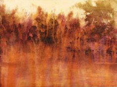 "Lake's Edge (Watercolor, 9"" x 11"")  maurice sapiro"