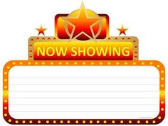 Cinema marquee graphic for bulletin boards