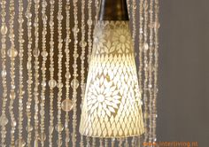 Elegant transparant or white bead curtain for your living.