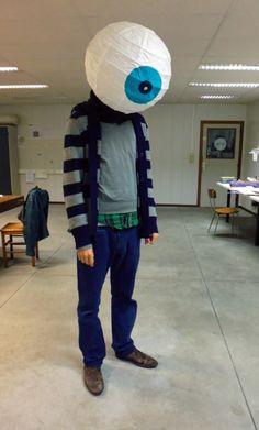 Giant Eyeball Costume/IKEA Hack