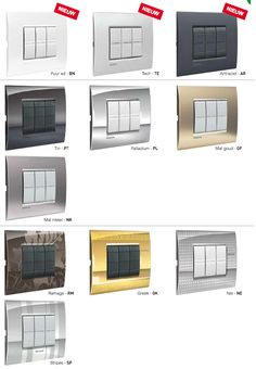 Modern Light Switches, Electrical Installation, Rustic Kitchen Design, Aluminium Doors, Outlet Covers, Switch Covers, Box Design, Floor Plans, Lights