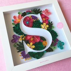 Hobbies For Women Over 50 Arte Quilling, Quilling Letters, Quilling Work, Paper Quilling Jewelry, Quilled Paper Art, Origami Paper Art, Quilling Paper Craft, Paper Crafts, Paper Quilling Tutorial