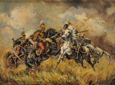Napoleonic Wars, Military Art, Art History, Battle, Polish, Painting, Poland, November, Vitreous Enamel