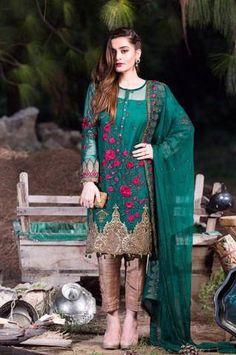 Red tan Chiffon salwar kameez Plus size 52 New arrivals