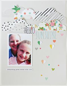 Hey, Gossamer Blue friends! It's Brenda here with you today. While sorting through my June kits, the clouds paper by Simple Stories caught my eye, and I thought it would be a fun paper to use to tr…