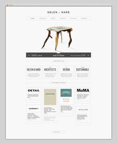 website + rustic + modern + clean + grid + type