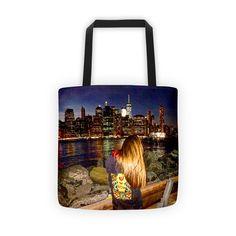 Night Time Manhattan Gazer Tote bag