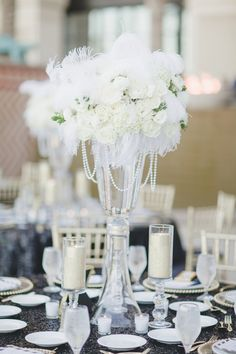 A Glamorous Black and White Wedding   planned by Scheme Events and photographed by Adam Trujillo