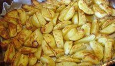 Pyszne, aromatyczne, chrupiące, pieczone ziemniaki w piekarniku a'la frytki. Kefir, Sprouts, Potatoes, Meat, Chicken, Vegetables, Food, Potato, Essen